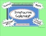Kindergarten Common Core Interactive Calendar Smartboard