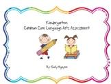 Kindergarten Common Core Language Arts Assessment