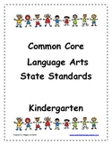 Kindergarten Common Core Language Arts Parent Handout