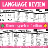 Kindergarten Common Core Language Review Sheets
