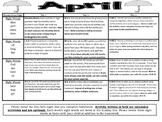 Kindergarten Common Core Literacy and Math Homework Calendar- April