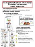 Kindergarten Common Core Literature & Informational Poster