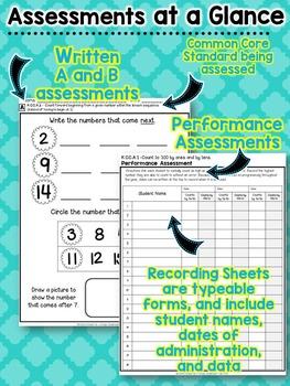 Kindergarten Common Core MATH Assessment Pack - ALL STANDARDS