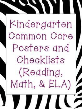 Kindergarten Common Core MEGAPACK!  Zebra/Hot Pink