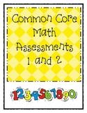 Kindergarten Common Core Math Assesments 1 & 2