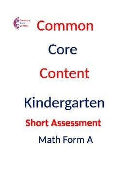 Kindergarten Common Core Math Assessment Bundle SHORT Form