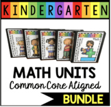 Kindergarten Common Core Math BUNDLE - Unit Plans - Centers - Worksheets