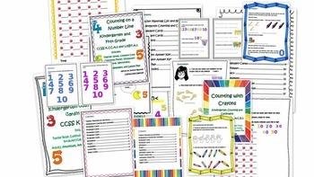 Kindergarten FULL YEAR Common Core Math Bundle!!!
