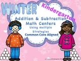 Kindergarten Common Core Math Centers Adding & Subtracting Winter