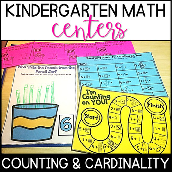 Kindergarten Common Core Math Centers- Counting and Cardinality by ...