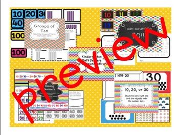 Kindergarten Common Core Math Centers (Envision Math Topics 1-6 Bundle)