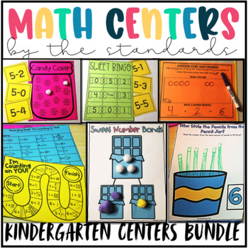 Kindergarten Math Centers for the Year- Common Core Math Centers Bundle