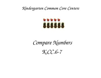 Kindergarten Common Core Math Centers K.CC.6-7