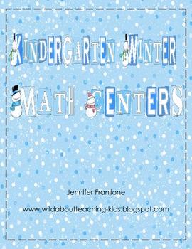 Kindergarten- Common Core Math Centers for Winter