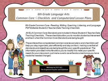 Kindergarten Common Core Math Checklists and Drop Down Lesson Plans