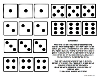 What's the Missing Number? Kindergarten Math {Composing/Decomposing}