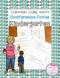Common Core Math Conference Forms for Kindergarten