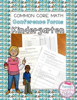 Kindergarten Common Core Math Conference Forms