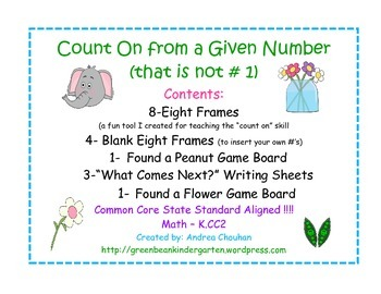 Kindergarten Common Core Math - Counting On from Other Numbers, Not 1