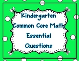 Kindergarten Common Core Math Essential Questions