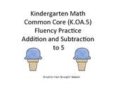 Kindergarten Common Core Math Fluency Game