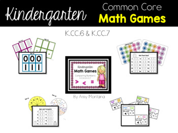 Kindergarten Common Core Math Games {Comparing Numbers K.CC.6 & K.CC.7}
