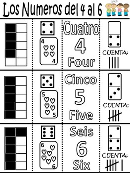 Let's Make A Number Activity Book ~ English and Spanish Versions