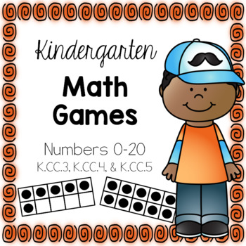 Kindergarten Common Core Math Games {Counting Objects Within 20 K.CC.3, 4, & 5}