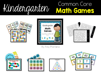 Kindergarten Common Core Math Games {Counting Within 100 K.CC1 & K.CC.2}
