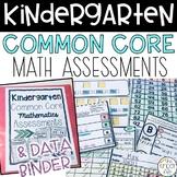 Kindergarten Math Common Core Assessments + Data Binder