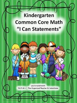 "Kindergarten Common Core Math ""I Can Statements."""