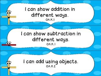 Kindergarten Common Core Math I Can Statements