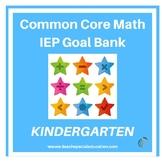 Kindergarten Common Core Math IEP Goal Bank