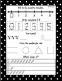 Kindergarten Common Core Math Journals Weeks 1-4 (September)