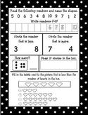 Kindergarten Common Core Math Journals Weeks 5-8 (October)