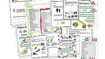 Kindergarten Common Core Math Measurement and Data Bundle