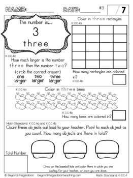 Kindergarten Math Worksheets Count to tell the number of objects Common Core