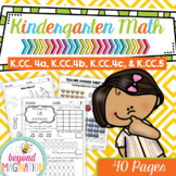Kindergarten Math Worksheets Count to tell the number of o