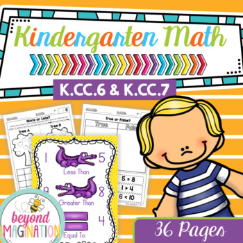 Kindergarten Common Core Math No Prep Worksheets K6 K7