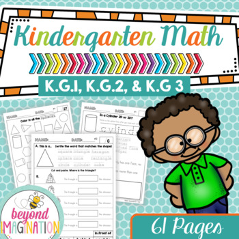 Kindergarten Math Worksheets Geometry Identify and Describe Shapes ...