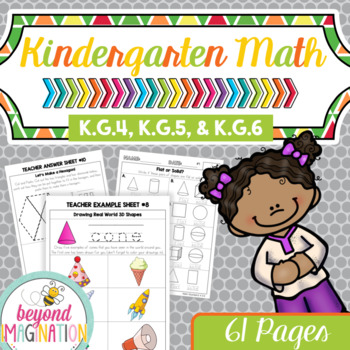 Kindergarten Common Core Math No Prep Worksheets Kg4 Kg5
