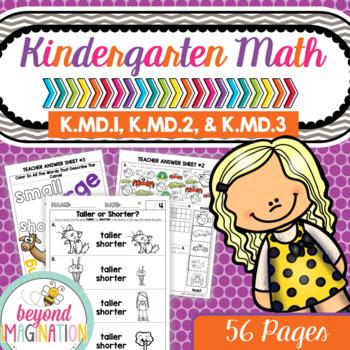 Common Core Math K.MD.1, K.MD.2, & K.MD.3 Kindergarten