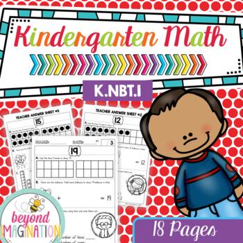 Kindergarten Common Core Math   No Prep Worksheets   K.NBT.1