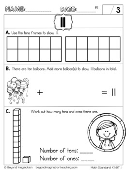 Kindergarten Math Worksheets Compose and Decompose Numbers Common Core Aligned
