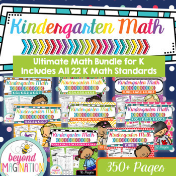 Kindergarten Common Core Math | No Prep Worksheets | Ultimate Math Bundle