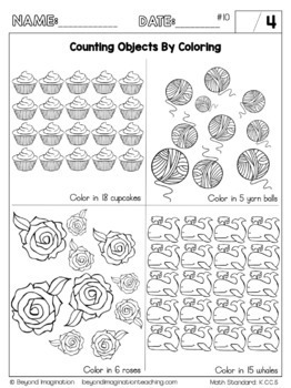Kindergarten Math Common Core Standards Bundle