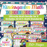 Kindergarten Math Common Core Standards Bundle Distance Learning
