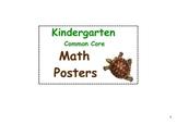 Kindergarten Common Core Math Posters-Animal theme
