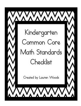 Kindergarten Common Core Math Standards Checklist