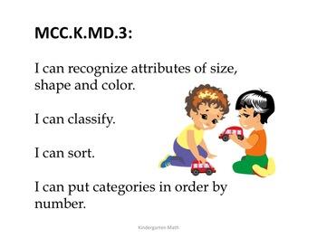 Kindergarten Common Core Math Standards for Posting--Kids